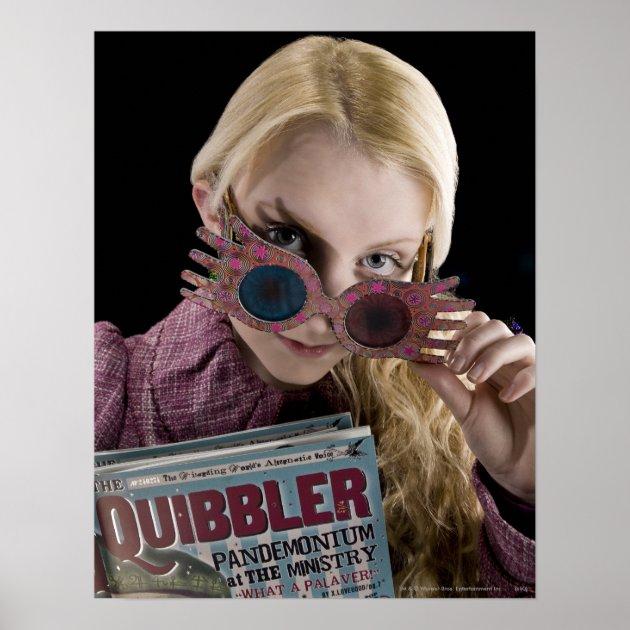 Luna Lovegood Peeks Over Glasses Poster