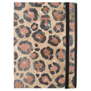 "Luxury Chic Gold Black Brown Leopard Animal Print iPad Pro 12.9"" Case"