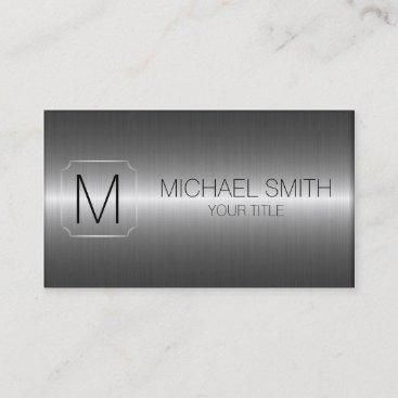 Luxury Stainless Steel Metal Monogram Business Card