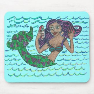 Mabel The Mermaid Mousepads