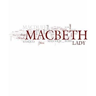Macbeth Word Cloud shirt
