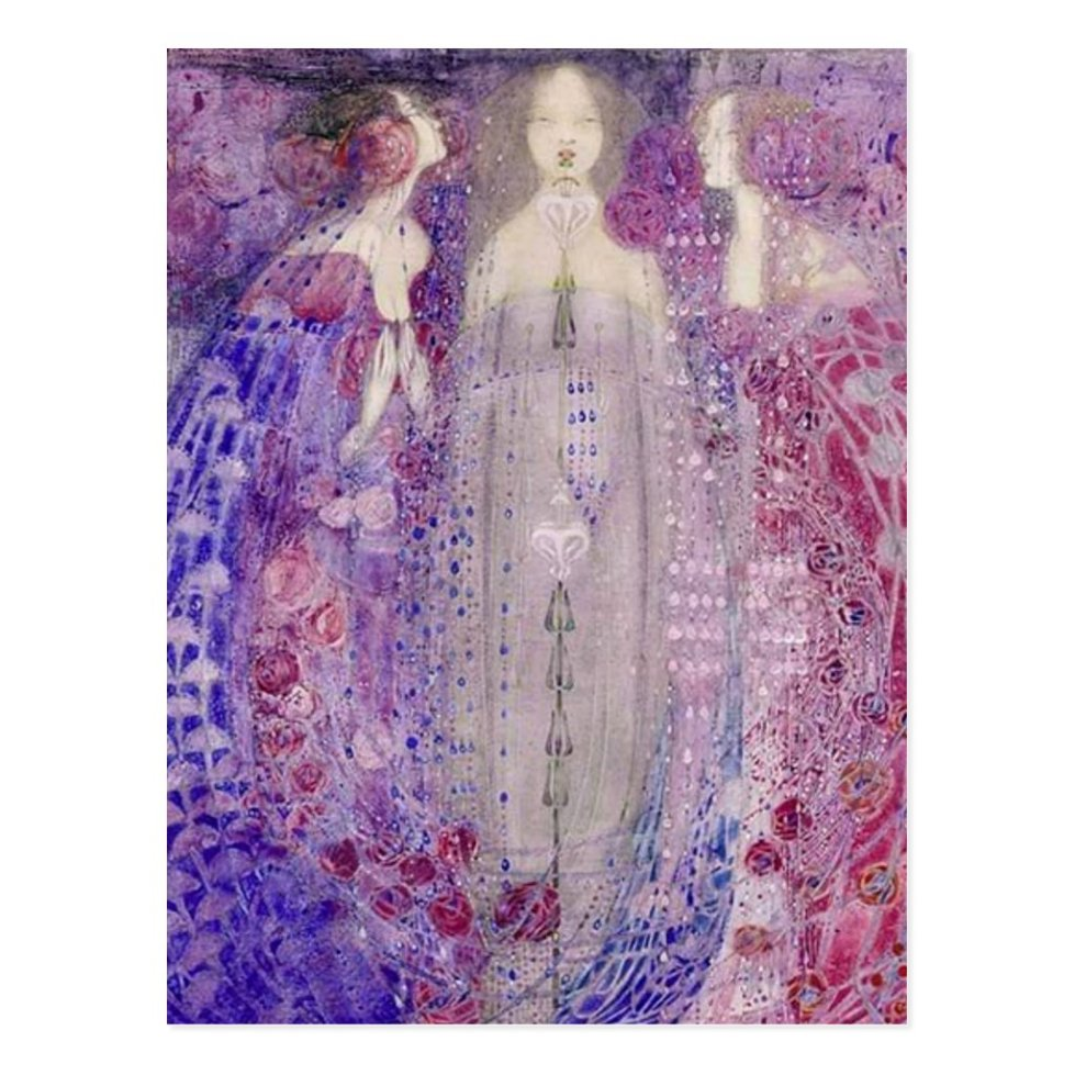 MacDonald Art Nouveau The Three Perfumes Postcard