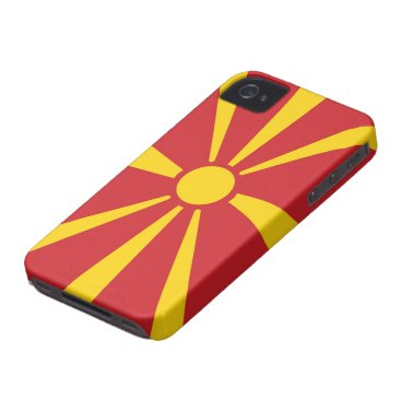macedonia country flag case sun