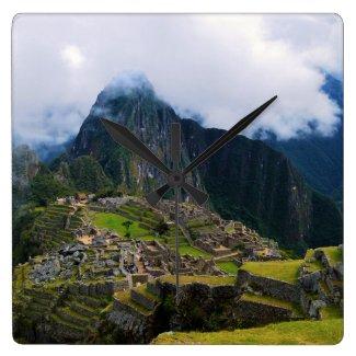 Machu Picchu, Peru Square Wallclock