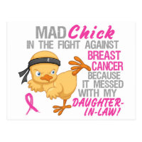 Mad Chick Messed With Daughter-In-Law 3 Breast Can Postcard