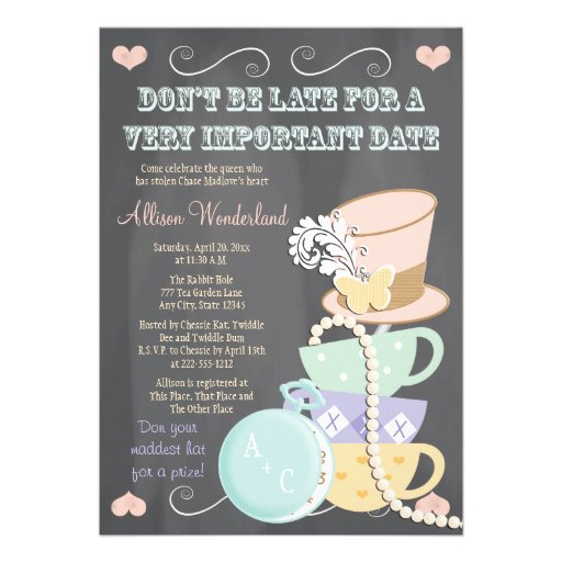 personalized hatter invitations custominvitations4u com