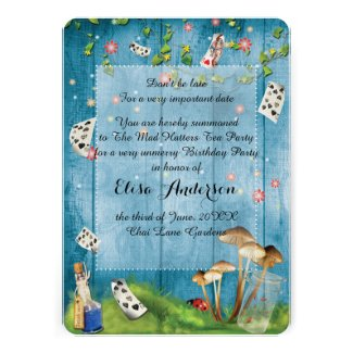 Mad Hatter Tea Party Birthday Party Invitation