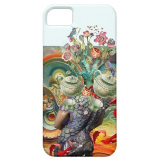 Mad hatters tea party collage iPhone 5 covers