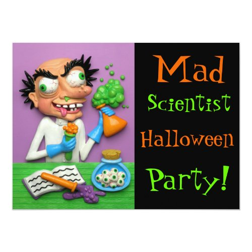 Mad Scientist Halloween Party Invitation
