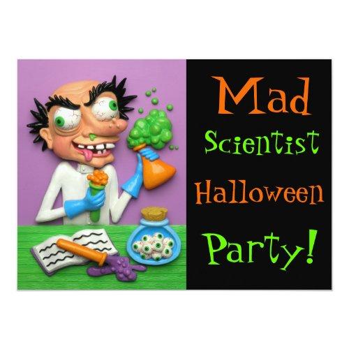 Mad Scientist Halloween Party Invitation