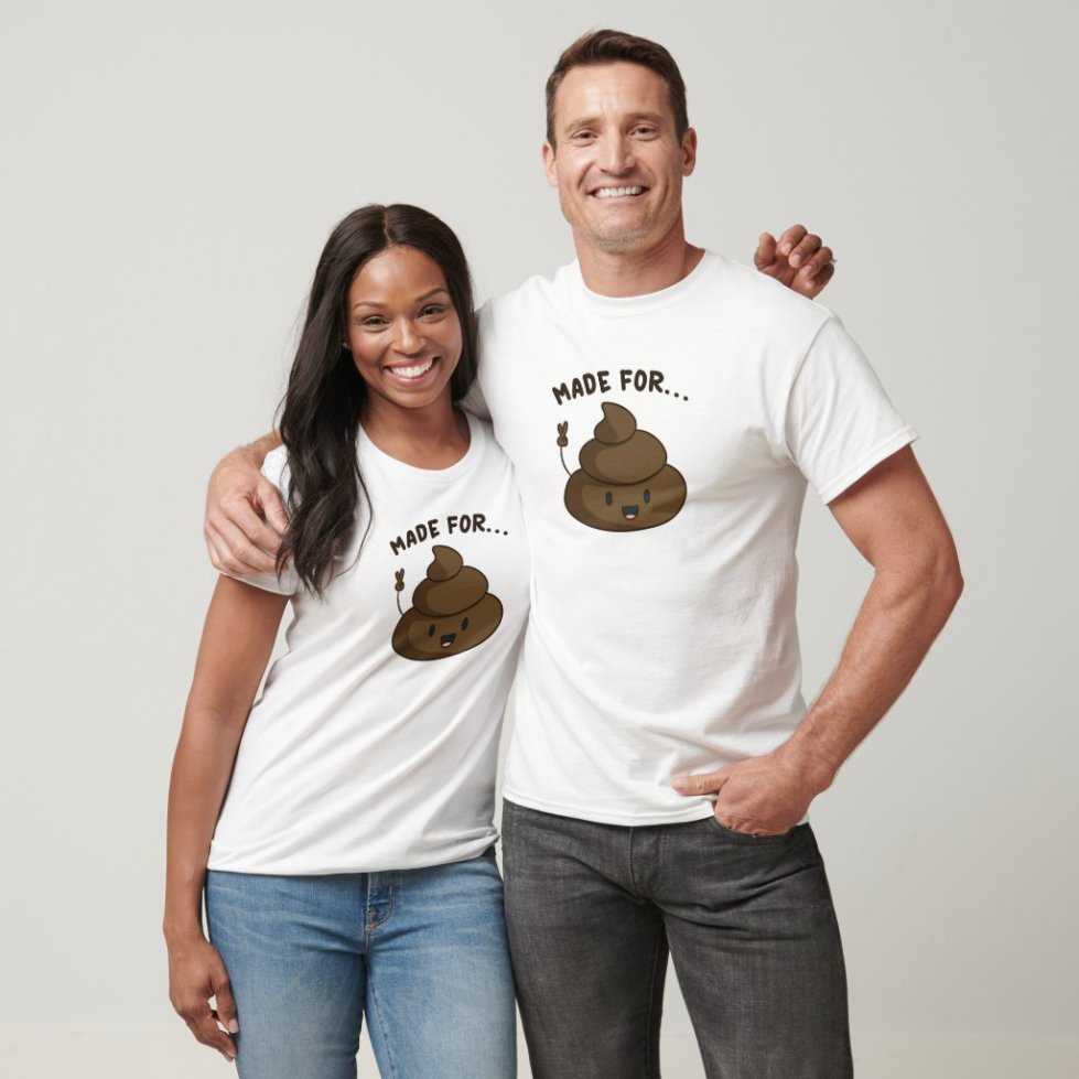 Matching Poop And Toilet Paper Made For Each Other T-Shirt