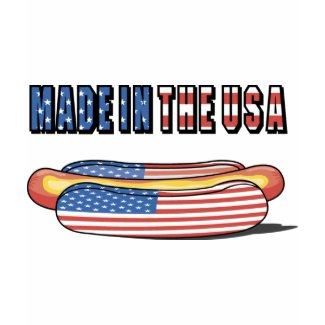 Made in the USA Patriotic Hot Dog shirt
