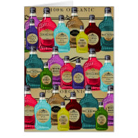 Magic Potion Apothecary Halloween Tonic Bottles Greeting Card