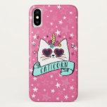 ❤️ Magical Caticorn Kawaii Cat Unicorn iPhone XS Case