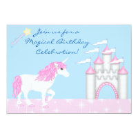 Magical Fantasy Unicorn Girl's Birthday Invitation