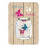 Magical Mason Jar Of Butterflies Invitation