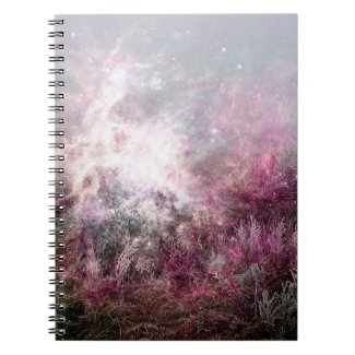 Magical Purple Pixie Dust Nebula Wilderness Notebooks