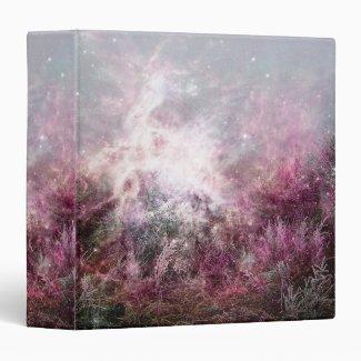 Magical Purple Pixie Dust Nebula Wilderness Vinyl Binders