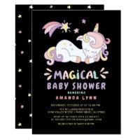 Magical Unicorn Baby Shower Invitation