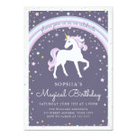 ❤️ Magical Unicorn Birthday Invite