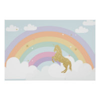 MAGICAL UNICORN BIRTHDAY PARTY BACKDROP POSTER