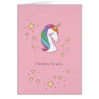 Magical Unicorn Friendship Card