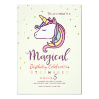 Magical Unicorn Invitation