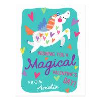 Magical Unicorn   Postcard Size Valentine