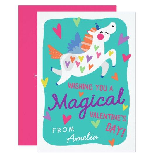 Magical Unicorn Valentine's Day Card | Zazzle.com