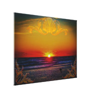 Magnificent Sunrise Over The Atlantic Ocean Stretched Canvas Prints