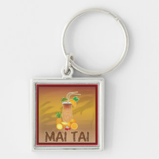 Mai Tai Cocktail Key Chain