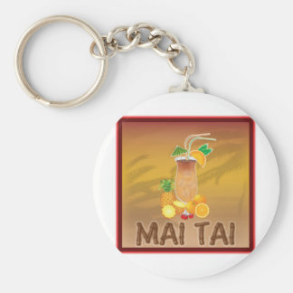 Mai Tai Cocktail Keychains