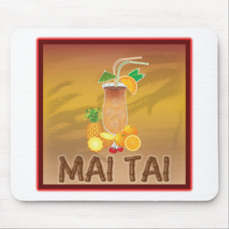 Mai Tai Cocktail Mouse Pads