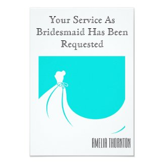 Maid of Honor or Bridesmaid Invite