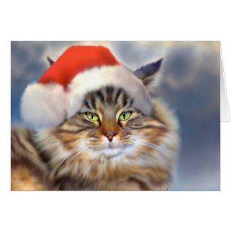 Maine Coon Cat Christmas Cards Archives The Cool Card Shop