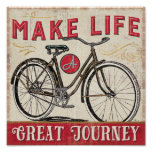 Make Life a Great Journey Quote Poster