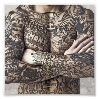 Male Body Tattoo Photograph