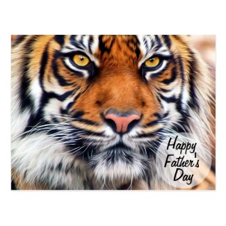 Male Siberian Tiger Father's Day Photograph Post Cards