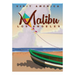 Malibu California Vintage Travel Poster