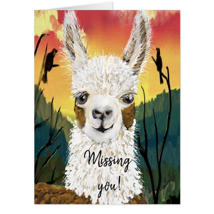Mama Llama I Miss You Giant Card