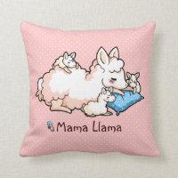 Mama Llama Throw Pillow