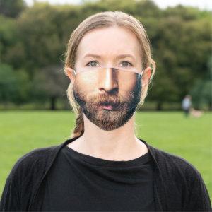 Man Brown Beard Cloth Face Mask