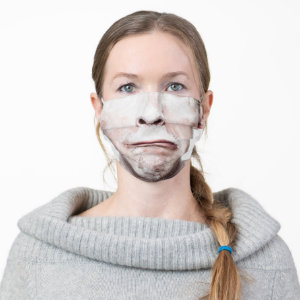 Man Funny Silly Grimace Cloth Face Mask