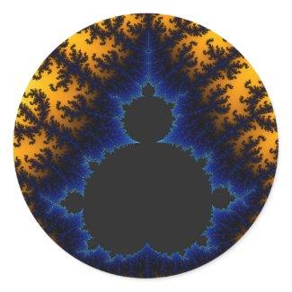 Mandelbrot Glow - Fractal Sticker sticker