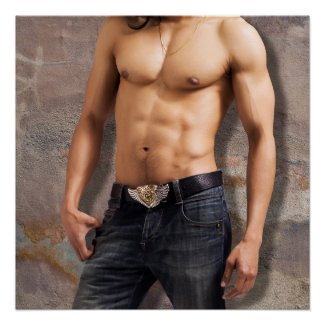 Man's Bare Chest Photograph Perfect Poster