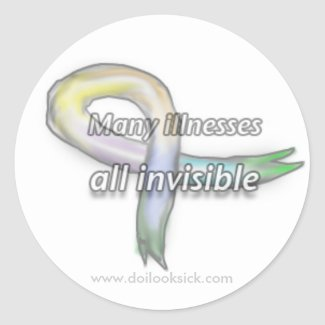 Many Illnesses, All Invisible Sticker Sheet