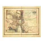 Map of Colorado Territory (1862) Canvas Print