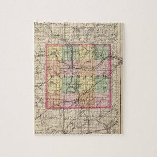 Map Of Kalamazoo County Michigan Jigsaw Puzzle