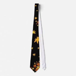 Maple leaves necktie