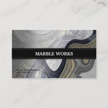 Marble Abstract Kitchen Remodeling Business Card